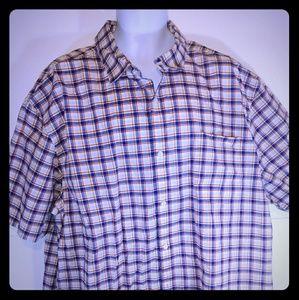Claiborne Men Button Up Shirt Short Sleeve